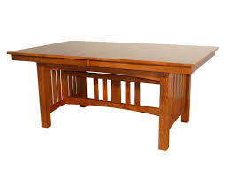 jere solid oak mission dining table