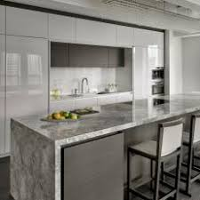 modern kitchen island. Waterfall Edge On Modern Kitchen Island
