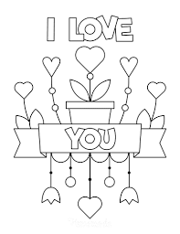 The best selection of royalty free coloring pages love heart vector art, graphics and stock illustrations. 50 Free Printable Valentine S Day Coloring Pages