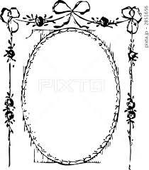 薔薇のガーランドフレーム 黒のイラスト素材 2851656 Pixta