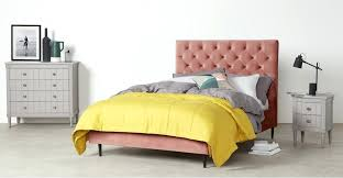 space saving upholstered bed pink velvet bedspread uk super king size blush
