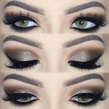dramatic brown smokey eye makeup