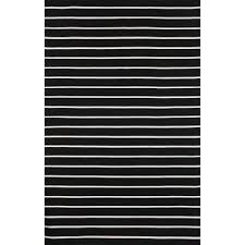 soro black pinstripe stripe stripe outdoor rug