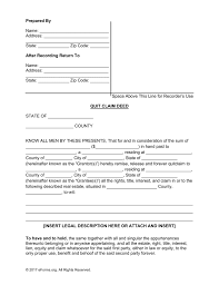 Quick Claim Deed Form
