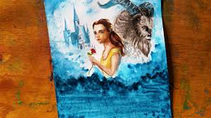 how to draw beauty and the beast 2017 drawing beauty and the beast painting watercolor sdpaint