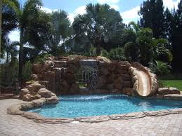 backyard pools with waterfalls and slide. Exellent Waterfalls In Backyard Pools With Waterfalls And Slide A