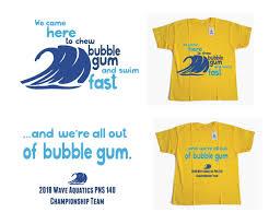 Swim Championship T Shirt Designs T Shirt Design For Wave Aquatics By Sparrow Design 20187566