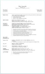 Nursing Objective Resume Resume Examples Objective Statement For