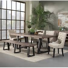 black dining room furniture sets. T.J. 6 Piece Dining Set Black Room Furniture Sets D