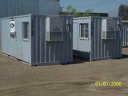 container office building. Ground Level Office Container Building
