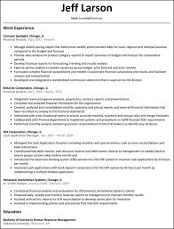 Credit Analyst Resume Classy Financial Analyst Resume Template Extraordinary Financial Analyst Cv