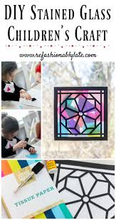 stained glass window children s craft stained glass windows kid crafts toddler crafts stained