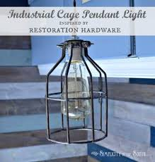 diy cage light inspired by restoration