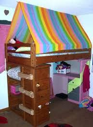Bunk Bed canopy - super easy   kids bedding/bedroom   Pinterest ...