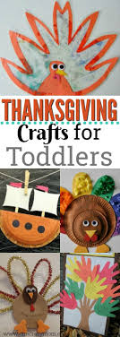 The kids will not be bored with these fun and easy Thanksgiving crafts for  toddlers.