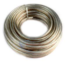 18 gauge 25 feet clear speaker wire zip cable copper clad 12 volt 18 gauge 25 feet clear speaker wire zip cable copper clad 12 volt home car audio