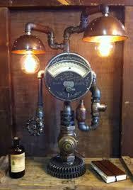 steampunk lighting. Steampunk Lamp Industrial Art Machine Age Light By Steamagedesign, $1600.00 Steampunk Lighting