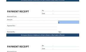 Payment Receipt Format In Word A Money Received Advance Form