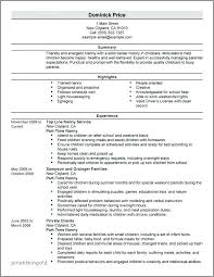 Day Care Resume Daycare Resume Objective Child Care Resume Objective Best Of