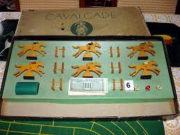 Wooden Horse Racing Game Vintage CAVALCADE American Horse Racing Game By Selchow Righter 37