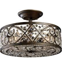 flush mount rectangular crystal chandelier nickel semi flush ceiling lights 1910 light fixtures semi flush mount chandelier