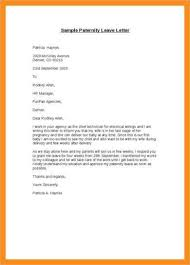 Mail For Maternity Leave 9 Official Letter For Leave Examples Pdf Examples