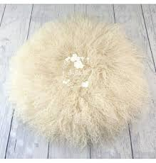 round flokati rug image of cream round rug ikea flokati rug cleaning