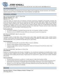 Law Enforcement Resume Templates Resume Examples Law Enforcement Resume  Template Entry Level