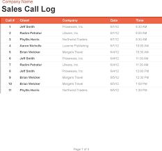Free Sales Call Log And Organizer Xlsx 65kb 3 Page S