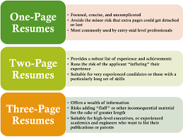 Resume Length Tips How Many Pages Resume Starengineering