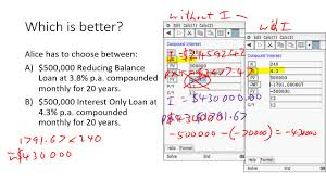 Interest Only Loan Calculation Reducing Balance Loans V Interest Only Loans