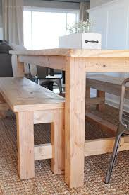 rustic dining table diy. this large farmhouse table seats 8+ and adds great rustic charm to your dining room diy