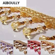 12M European Curtain Lace Crystal Beads Decorative Accessories ...
