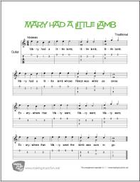 Guitar Solo Chart Mary Had A Little Lamb Free Beginner Guitar Sheet Music Tab