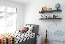simple bedroom for boys. Fun Airplane Mural Is A Simple Yet Cute Way To Decorate Wall. Bedroom For Boys O