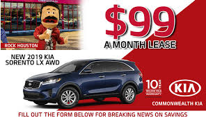 lease a new kia for under 100 month
