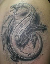 3d Motiv Tetování 15 Vzor Drak