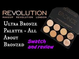 swatch and review makeup revolution usa ultra bronze palette all about bronzed