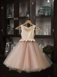 Flower Girls Dresses For <b>Weddings Champagne Tulle Appliques</b> ...