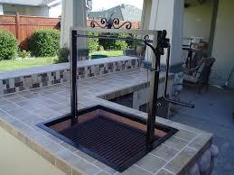 Steel Frame Outdoor Kitchen Custom Santa Maria Bbq W Iron Frame W Stainless Steel Grill