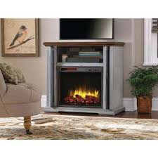 hamilton 38 in infrared pocket mantel electric fireplace tv
