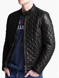 TOP quality Men's Quilted PU Leather Jacket | Hot mess | Pinterest ... & TOP quality Men's Quilted PU Leather Jacket | Hot mess | Pinterest |  Colors, Leather jackets and Leather Adamdwight.com