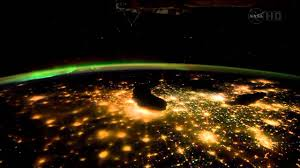 Image result for aurora borealis from space