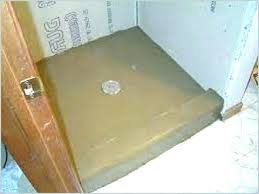 how to install shower pan on concrete floor shower tray repair kit model installing pan