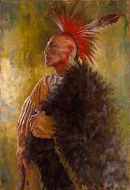 ozark mountain warrior osage nation painting james ayers