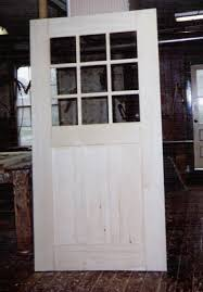 Large size exterior door - single pane glass - true divided lights  -reproduction of existing - restoration project for a hydro plant in NY ...