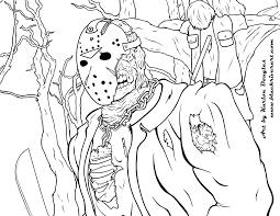 Coloring Book Pages Jason Free For Adults Ribsvigyapan Com