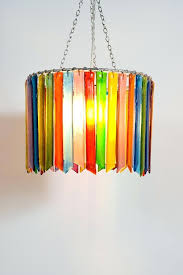 recycled glass chandelier rainbow rhapsody small single handmade recycled glass chandelier emery indoor outdoor recycled glass