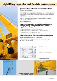 High Lifting Capacities And Flexible Boom System High