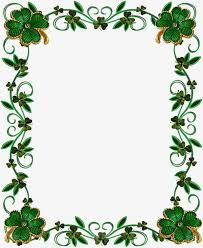 Green Leaf Borders Frame Green Leaves Flowers Png Image And